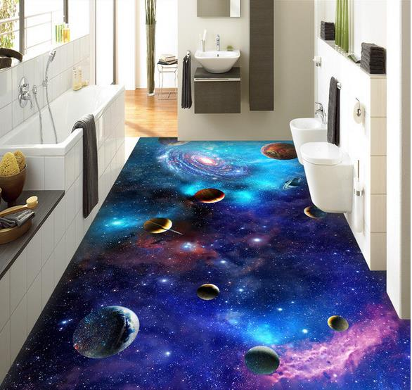 3d floor wallpaper custom photo hd galaxy star universe for Floor 3d wallpaper