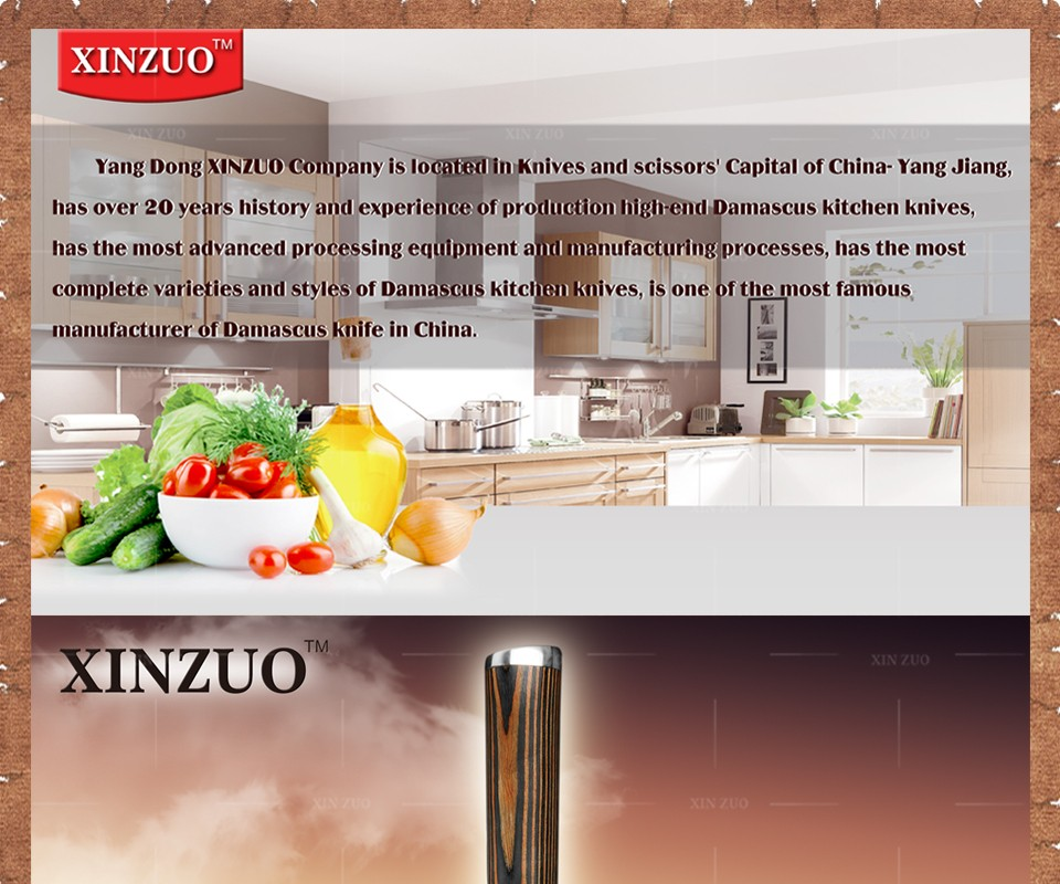 """Buy XINZUO high quality 8"""" inch bread knife japanese VG10 cake knife Damascus steel kitchen knifecook tool with color wood handle cheap"""