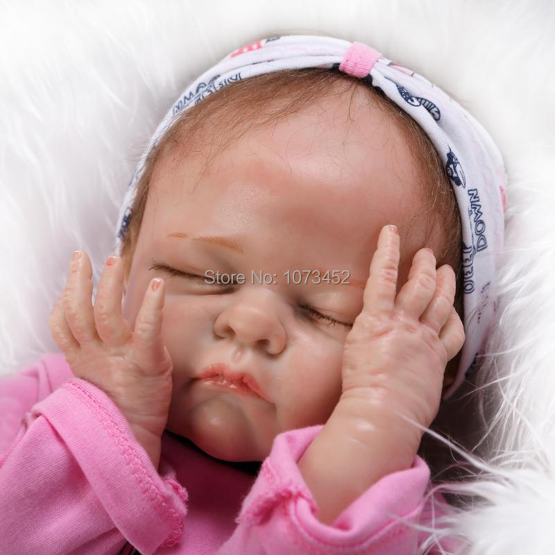 NEW Solid silicone reborn baby doll for girls simulation super good tounch brinquedos juguetes lifelike toy(China (Mainland))