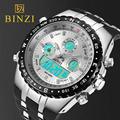 BINZI Brand Luxury Sport Wrist Watch Men s Military Waterproof Watches Fashion Silicone LED Digital Clocks