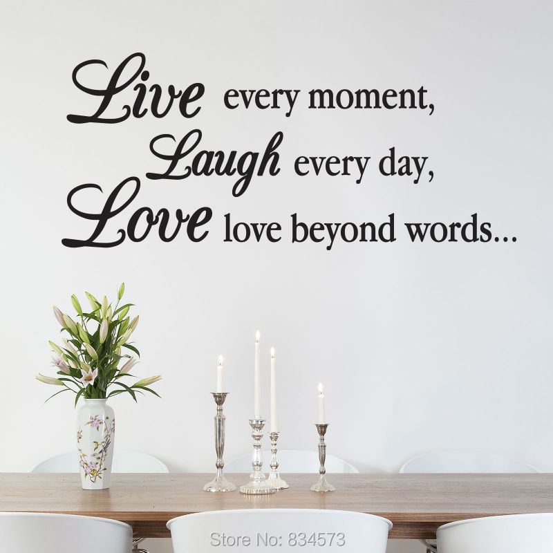 Buy live laugh love inspirational wall for Mural inspiration