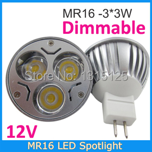 20PCS/LOT dimmable MR16 3*3W LED Bulb 12V 9W LED LAMP MR 16 12V LED SPOTLIGHT WARM WHITE COOL WHITE FREE SHIPPING(China (Mainland))