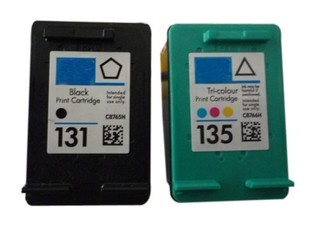 1Set for HP 131 135 ink cartridge for HP 460 5743 5940 5943 6940 Photosmart 2573 2613 8753 PSC 1600 1613 2350 2355 printer ink(China (Mainland))