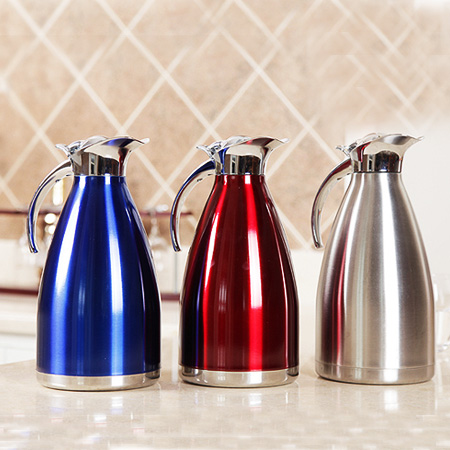 1L 304 Stainless steel liner home insulation pot vacuum flasks thermos large capacity open bottle hot water - YoKi Colection store