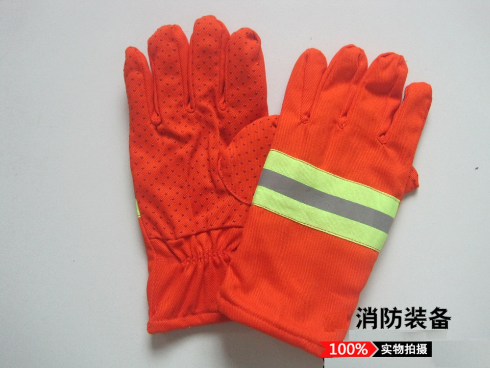 Rescue fire gloves gloves orange orange personal protective equipment and rescue equipment tools