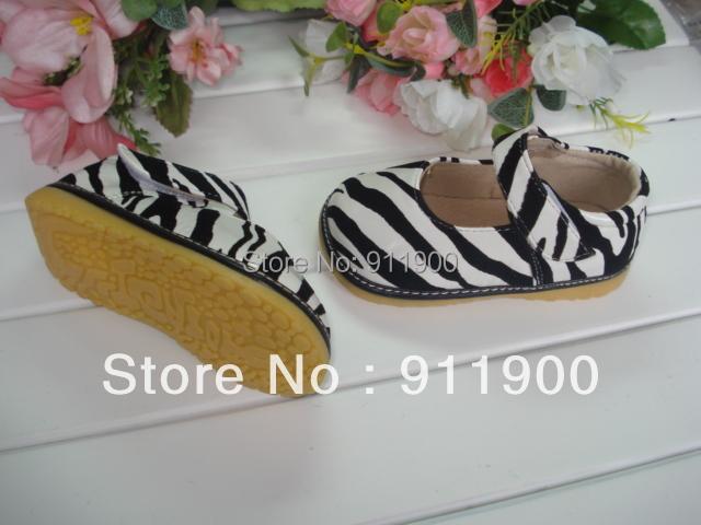 Zebra Patent Mary Jane Squeaky Shoe(China (Mainland))