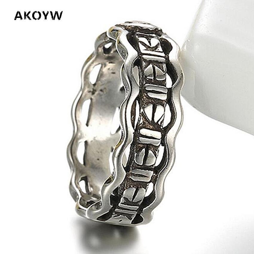 Factory direct high-quality silver plated male and female models ring opening retro Thai silver jewelry rings hollow geometry(China (Mainland))