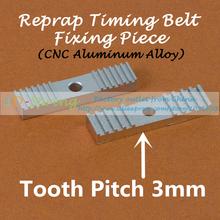 3Pcs/Lot 3D Printer Accessories Reprap Timing Belt Fixed Clip Pinch Aluminum teeth Sheet Sandblast Oxidation treatment