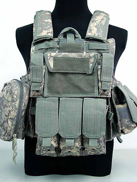 Molle Combat Strike Plate Carrier CIRAS Vest Digital ACU Camo