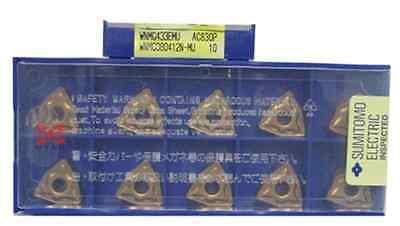Фотография DHL/EMS 4 Sets10PCS/BOX SUMITOMO Carbide Inserts WNMG080412N-MU AC830P NEW