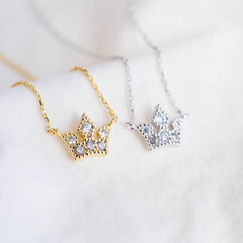 30PCS/lot 2015 Fashion rhinestone necklace Noble crown necklaces for women wholesale and mixed color  free shipping<br><br>Aliexpress