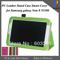 Lychee PU Leather Smart case for Samsung galaxy note 8 N5100,N5110 leather stand cover,9 color,free ship