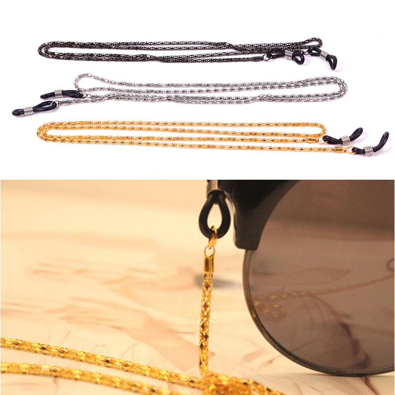 New Reading Glasses Strap Eyeglasses Neck Cord Strap Metal Chain Holder 60cm HITM #60838(China (Mainland))