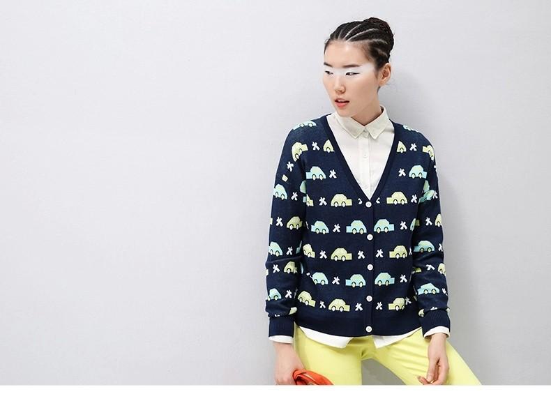 Toyouth Brand  Жилетidos 2015 Женщины Повседневный Длинный Рукав Dress Autumn Winter Hollow Out Contrast Цвет О-образным вырезом Straight Мини Dress