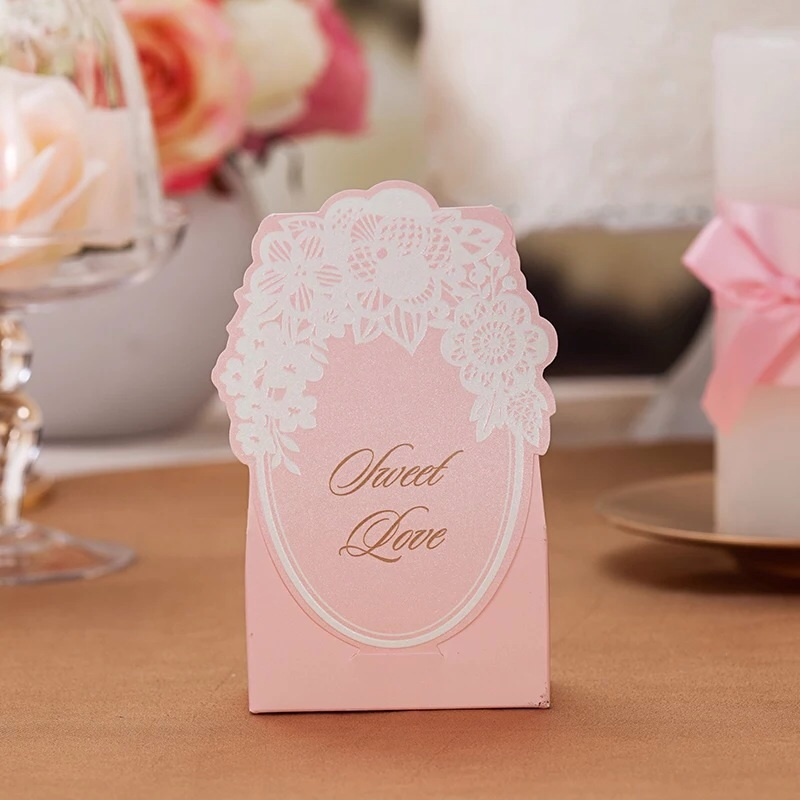 Wedding Gift Box For Guests : pink sweet love paper box, gift candy boxes, wedding gifts for guests ...