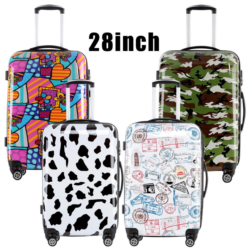 Colorful 28 inches Hard Shell Trolley Luggage