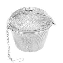 4.5cm Tea Stainless Strainer Locking Tea Spice Mesh Herbal Ball  TB Sale(China (Mainland))