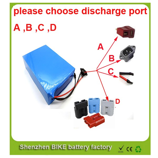 Free customs tax battery manufacture 51.8v 30Ah li ion battery pack 52v 1500w electric bike battery with 30A BMS,charger(China (Mainland))