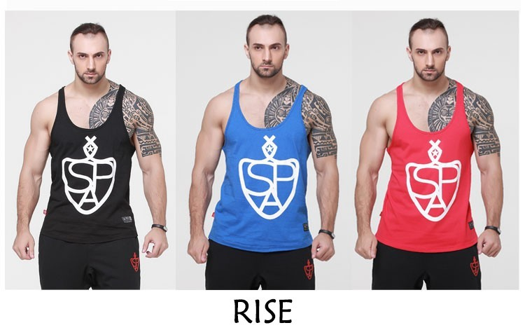 2014 cotton fitness clothes bodybuilding tank top men Sleeveless tops Casual golds vest brand tracksuits men