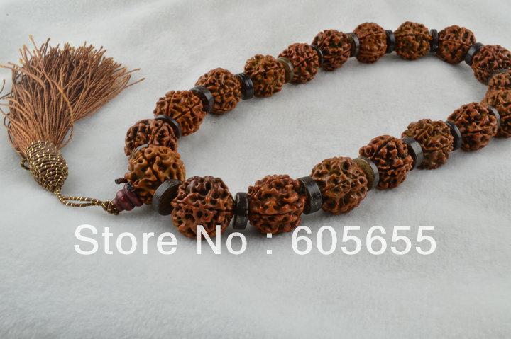 Wholesale Buddhist Tibetan Big Size Rudraksha Beads Mala Prayer Bracelets 5 pc per Lot Free Shipping<br><br>Aliexpress