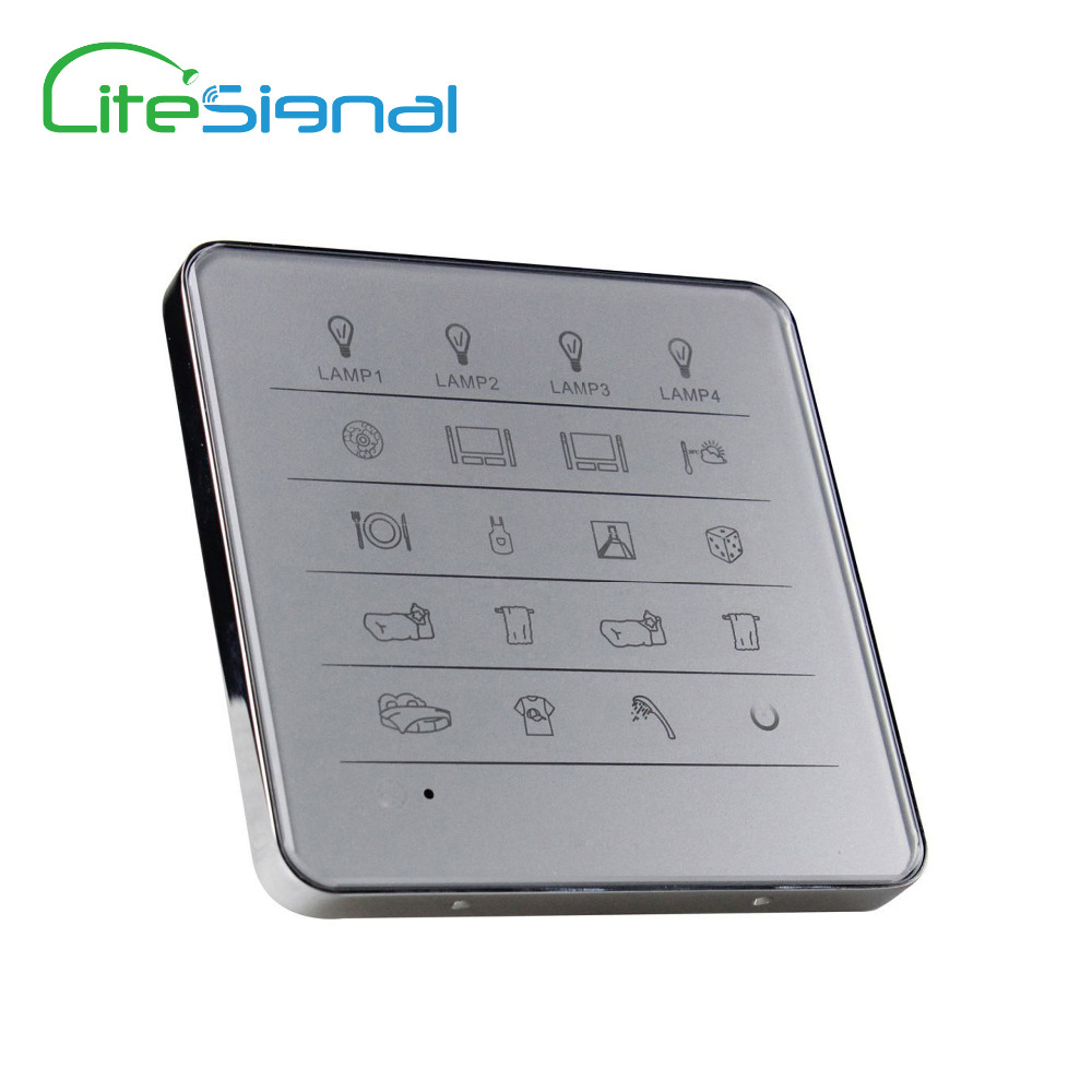 New royal smart home switch touch wall switch remote control 60 way of lamps in 15 rooms, with luxury Zinc alloy frame design(China (Mainland))