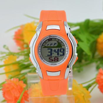 Newest good quality Led digital watch Kids sports watch waterproof watch pupils  luminous alarm clock  jelly table