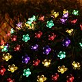 Christmas Lights Outdoor 21ft 50 LED Solar String Lights Flower Garden Light Blossom Lighting for Home