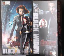 1pcs/set Black Widow AvengersII Action Figures Hot Toys Super Hero Marvel's PVC 18cm Model Gifts Mjolnir Garage Brinquedos Anime