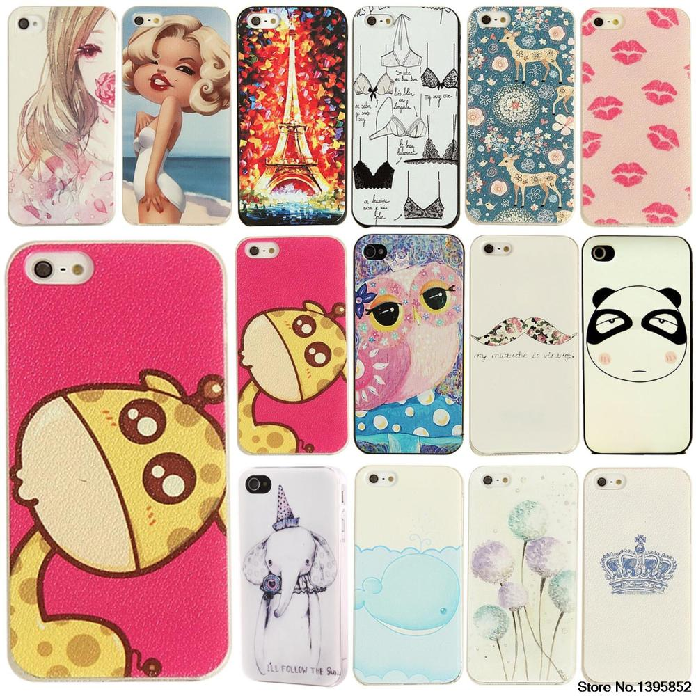Special Discount Phone Case for iPhone 4 4S Cover Various Cute Animals Painted Pattern Hard Plastic Phone Case(China (Mainland))