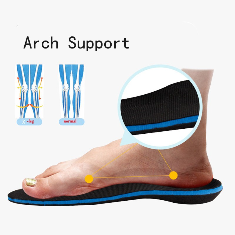 3D Premium High Quality Orthotic insoles O/X-leg Hollow foot Arch Support Orthopedic Plantar Fasciitis Running Insole For shoe