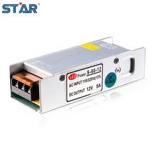 Led di alimentazione 12 v 5a 60 w led driver adattatore di alimentazione switching 220 v a 12 v trasformatori di illuminazione alluminio non-impermeabile(China (Mainland))