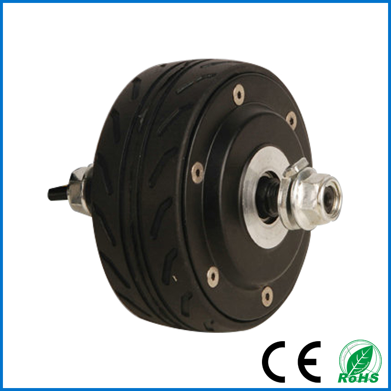 "free shippping 24V 150W 4"" hub motor wheel ,double shaft electric wheel hub motor,brushless hub motor(China (Mainland))"