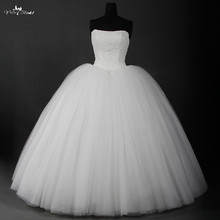 Cheap Lace Vintage Wedding Dress Ball Gown Made In China 2016 Real Photo Custom Plus Size Tulle Bridal Gown In Stock RSW900(China (Mainland))