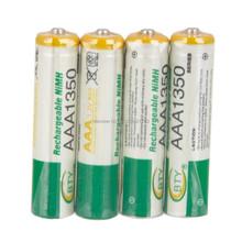 Bty 8 шт. / lot AAA 1,2 V 1350 мАч Ni-MH перезаряжаемый батареи нет упаковка