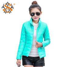 2014 новый новое женская спортивная куртка , чтобы согреться зимой хлопка-ватник шелк, Дамы мода свободного покроя тонкий мягкий зимняя куртка 269 т