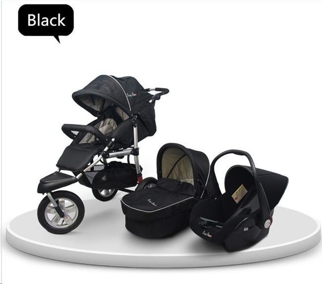 Black Baby Stroller 3 in 1 For Pretty Baby 2015 Hot