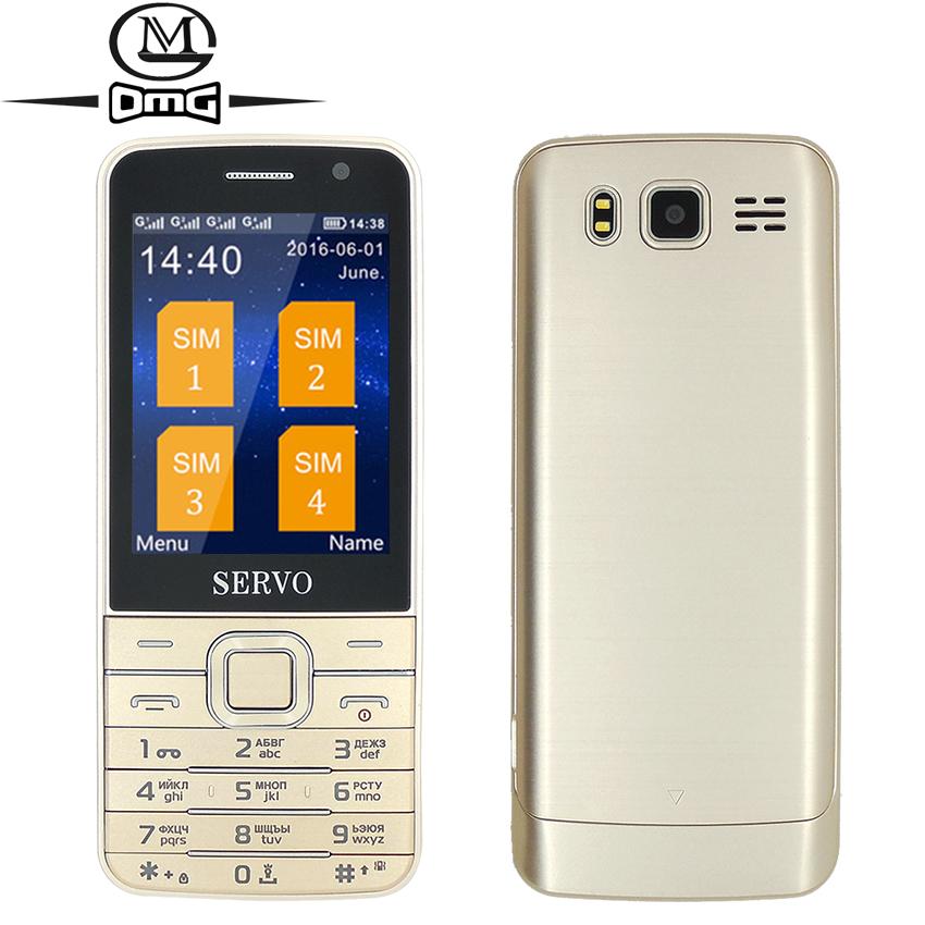 "Russian keyboard Quad Sim card Old man mobile cell phone Original SERVO V9500 2.8"" Big Screen GPRS MP4 flashlight Wireless FM(China (Mainland))"
