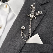 Retro Animal Men's Brooch For Party Fashion Formal Suits Lapel Pins Brooch For Men Classic Male Alloy Brooch Corsage Accessories(China (Mainland))