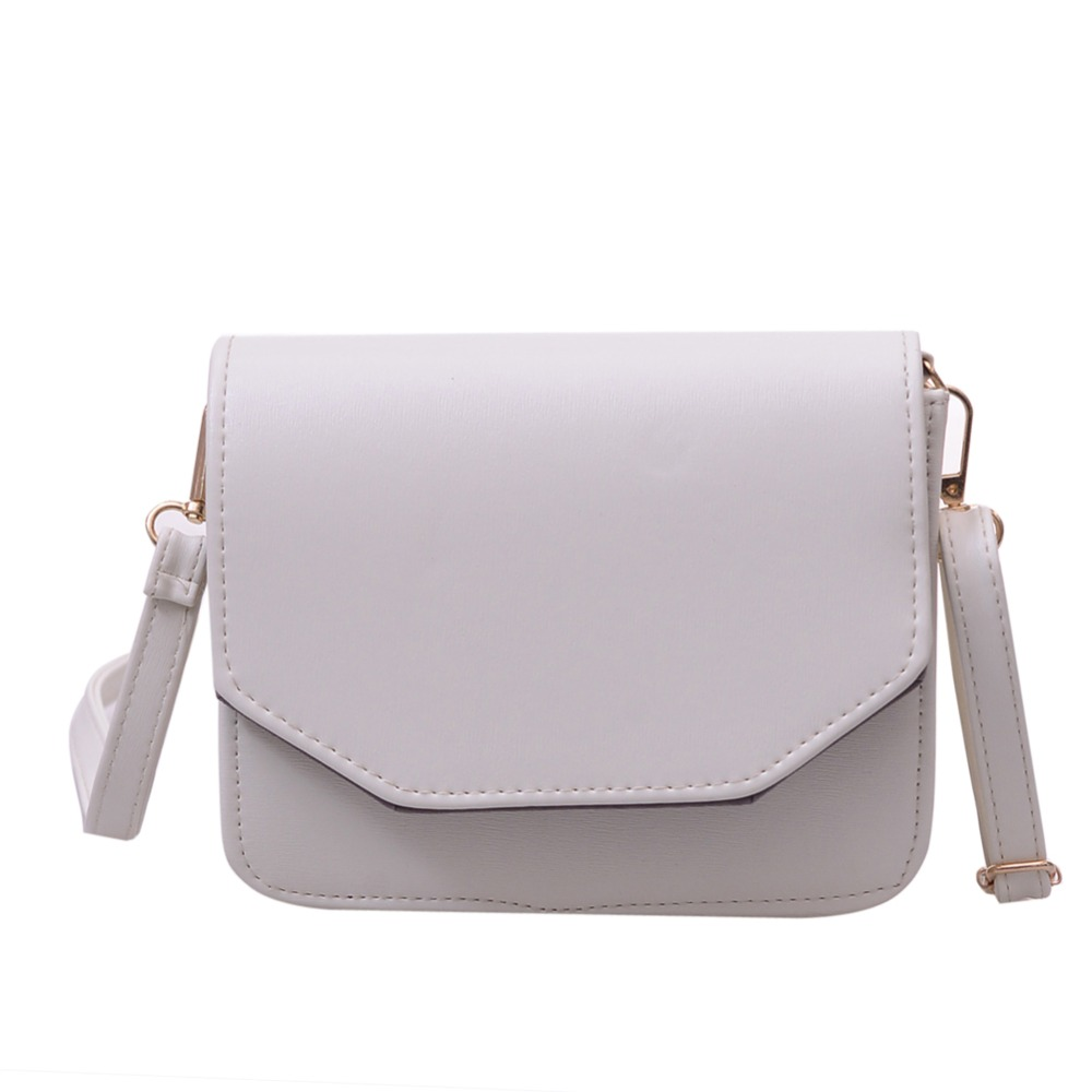 Vintage Women Leather Handbag Fashion Women Messenger Bags Designer Crossbody Shoulder Bags Black White Color Bolsa Feminina(China (Mainland))