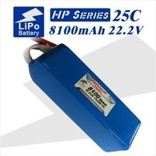 2pcs Redzone lipo battery 25C 8100mAh 22.2V 6s 1p for multi-axle vehicle rc helicopter uav fpv quadcopter