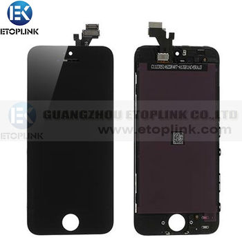 High Quality Test 1 BY 1 For iphone 5 5G lcd Touch Screen Digitizer Assembly For Iphone 5 5g lcd Black&White color Free Shipping