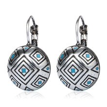 Buy New Vintage Bohemian Antique Silver Gold-color Carving Earrings Fashion Jewelry Stud Earrings Women Pendientes Mujer Moda for $1.64 in AliExpress store
