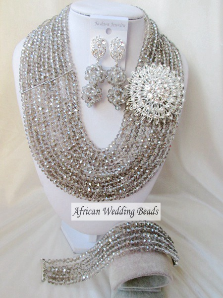Fashion new african beads Jewelry set crystal beads necklace set nigerian wedding african jewelry set free shipping  WI-2414<br><br>Aliexpress