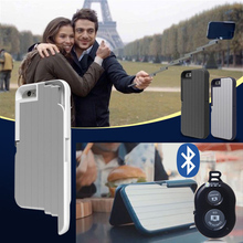 3 in 1 Selfie Stick Case for iPhone 6 6S plus Multifunction Foldable Extendable Aluminum Cover With Bluetooth Remote Shutter(China (Mainland))