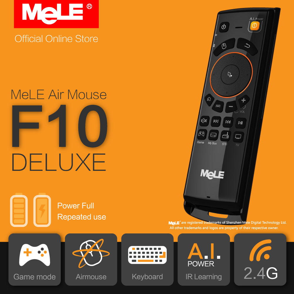 Fly Air Mouse Wireless QWERTY Keyboard Remote Control MeLE F10 Deluxe 2.4GHz Gyro IR Learning for Android TV Box Notebook PC MAC(China (Mainland))