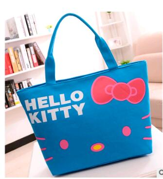 Vintage Dames Luxury nylon canvas Party Handbag hello kitty women Long dumplings bag hello kitty bag Bolsas Sac a Main Femme(China (Mainland))