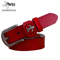 2016 Hot Sale Designer Brand Belts Men High Quality buckle belt Cowhide Young Fashion Business Leather