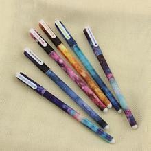 Гелевая ручка, 6 шт./компл., цветная, звездный узор, милый котенок, шариковые ручки, канцелярские принадлежности для офиса и школы(China)