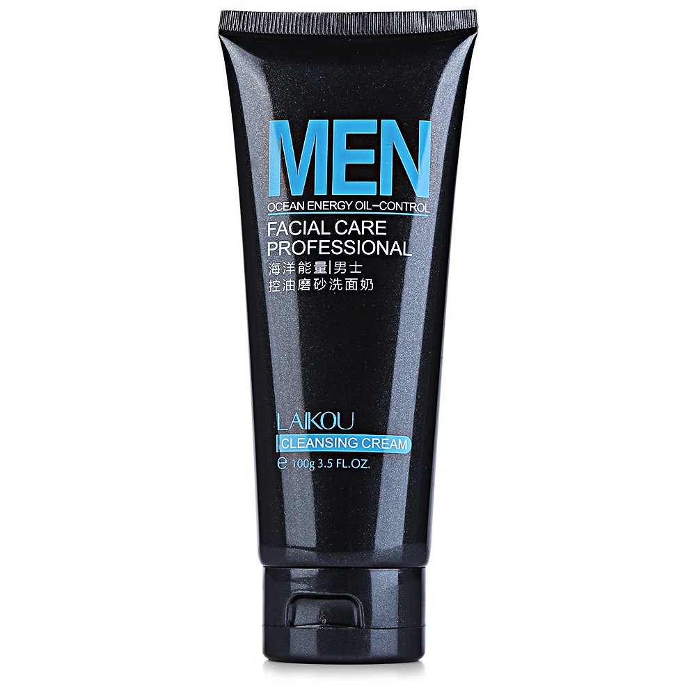 100ml Marine Energy Men Deep Cleansing Scrub Skin Care Cleanser Whitening Acne Blackhead Face Care Exfoliating Cleanser Hot Sale(China (Mainland))