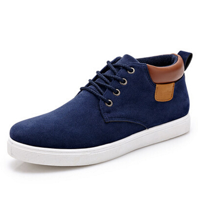 Men shoes 2016 new brand shoes spring autumn casual shoes low top lace-up solid nubuck leather high quality fashion flats shoes(China (Mainland))